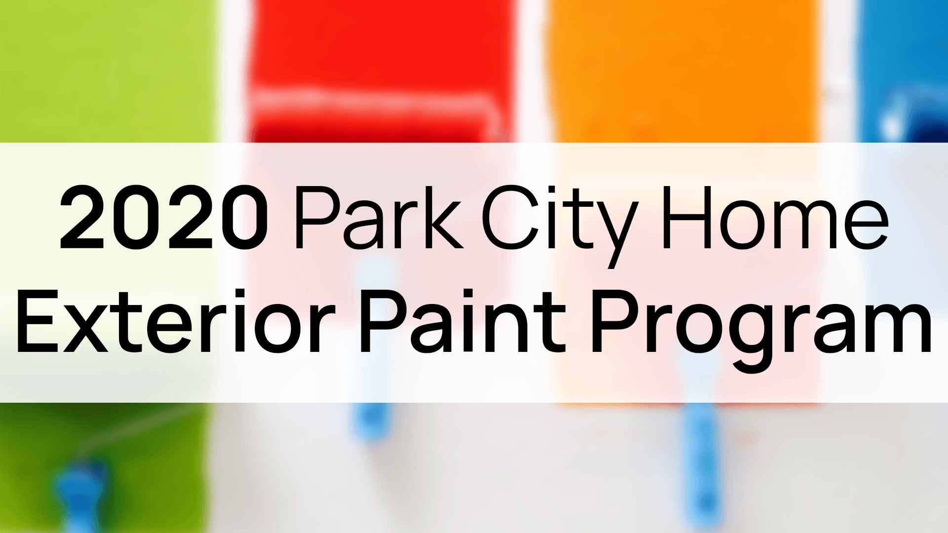 2020 Exterior Paint Program Header Image